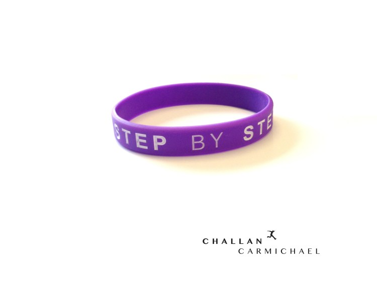 Challan Carmichael - Step By Step Wristband - [Purple]