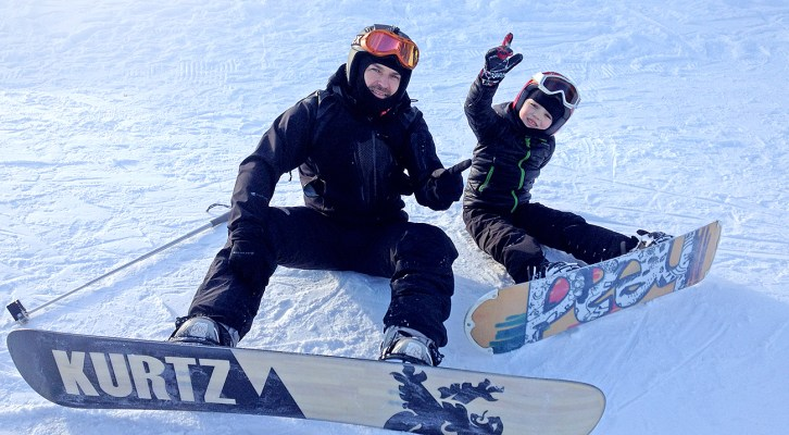 Snowboard mit Kind/Tatra 2016 (Video)
