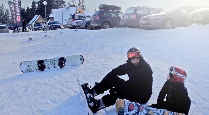 Snowboard w Tatrach z dzieckiem