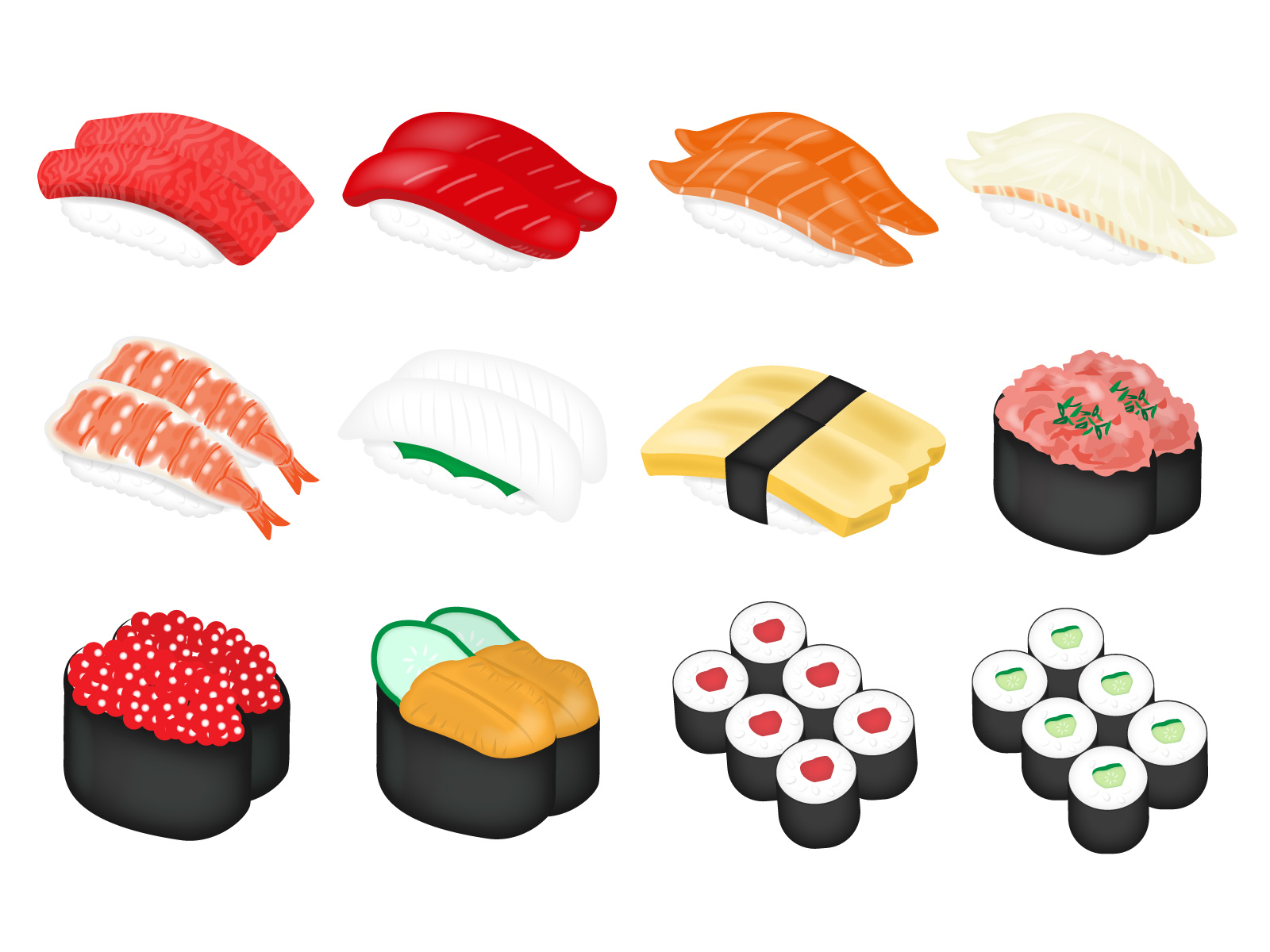 様々なお寿司の種類