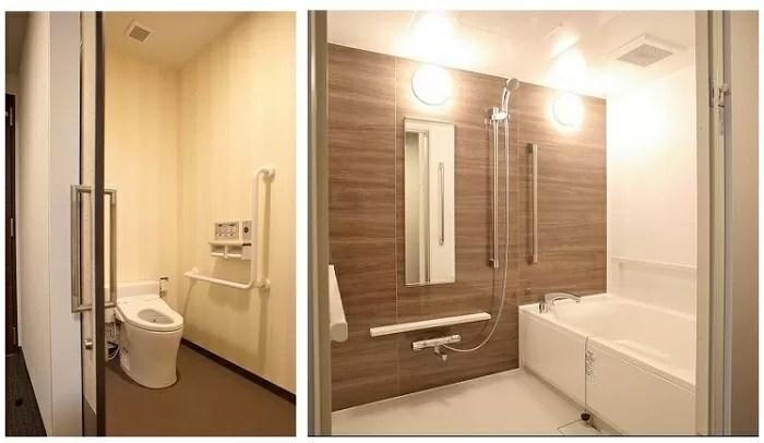 HOTELユーラシア舞浜アネックス【アネックスバリアフリーのトイレとバスルーム】