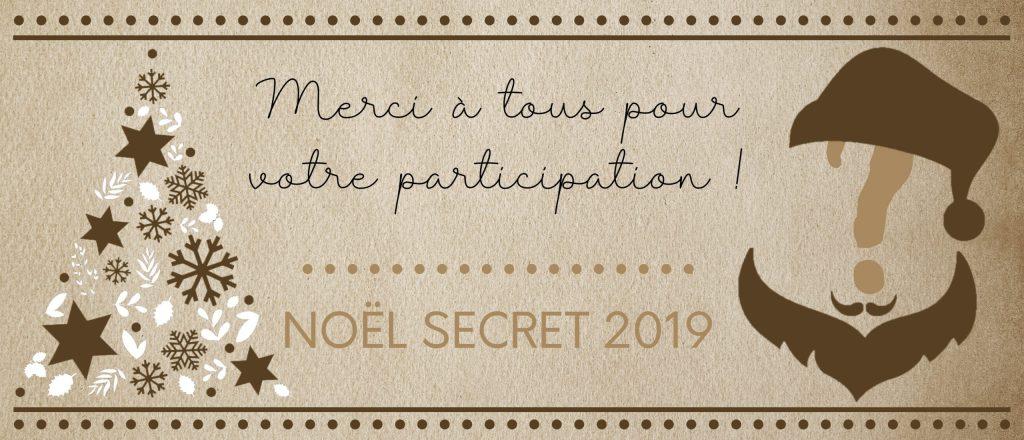 Remerciement Nöel Secret 2019