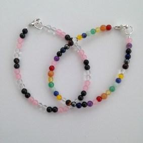 Custom order for semi precious stone bracelets