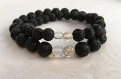 Couple's birthstone bracelets