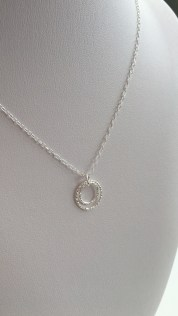 Double Circle, Sterling silver pendant.
