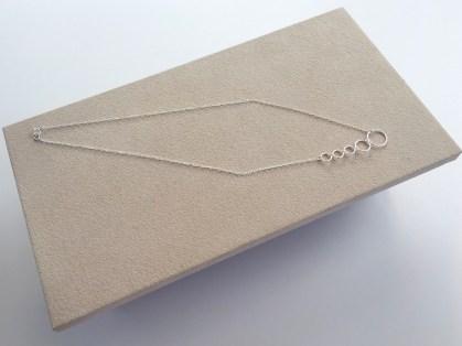 Asymmetric five Circle necklace