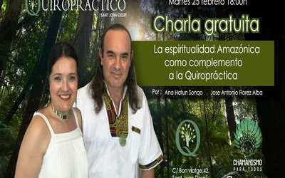 Éxito de la charla sobre la espiritualidad Amazónica como complemento a la Quiropráctica