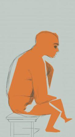 Le penseur - illustration
