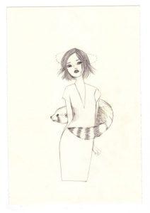 Louison et son vivant vison - dessin