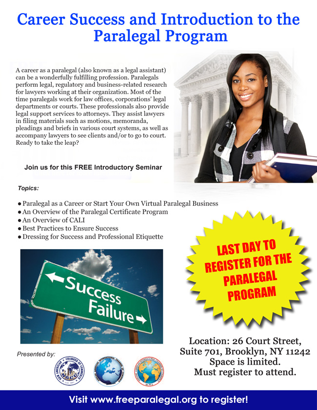 Introduction To The Paralegal Certificate Program Career