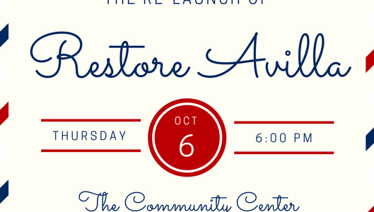 Restore Avilla Relaunch Meeting Announcement