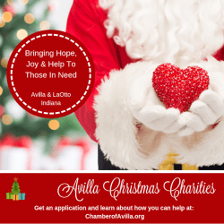 2018 Avilla Christmas Charities Announcement