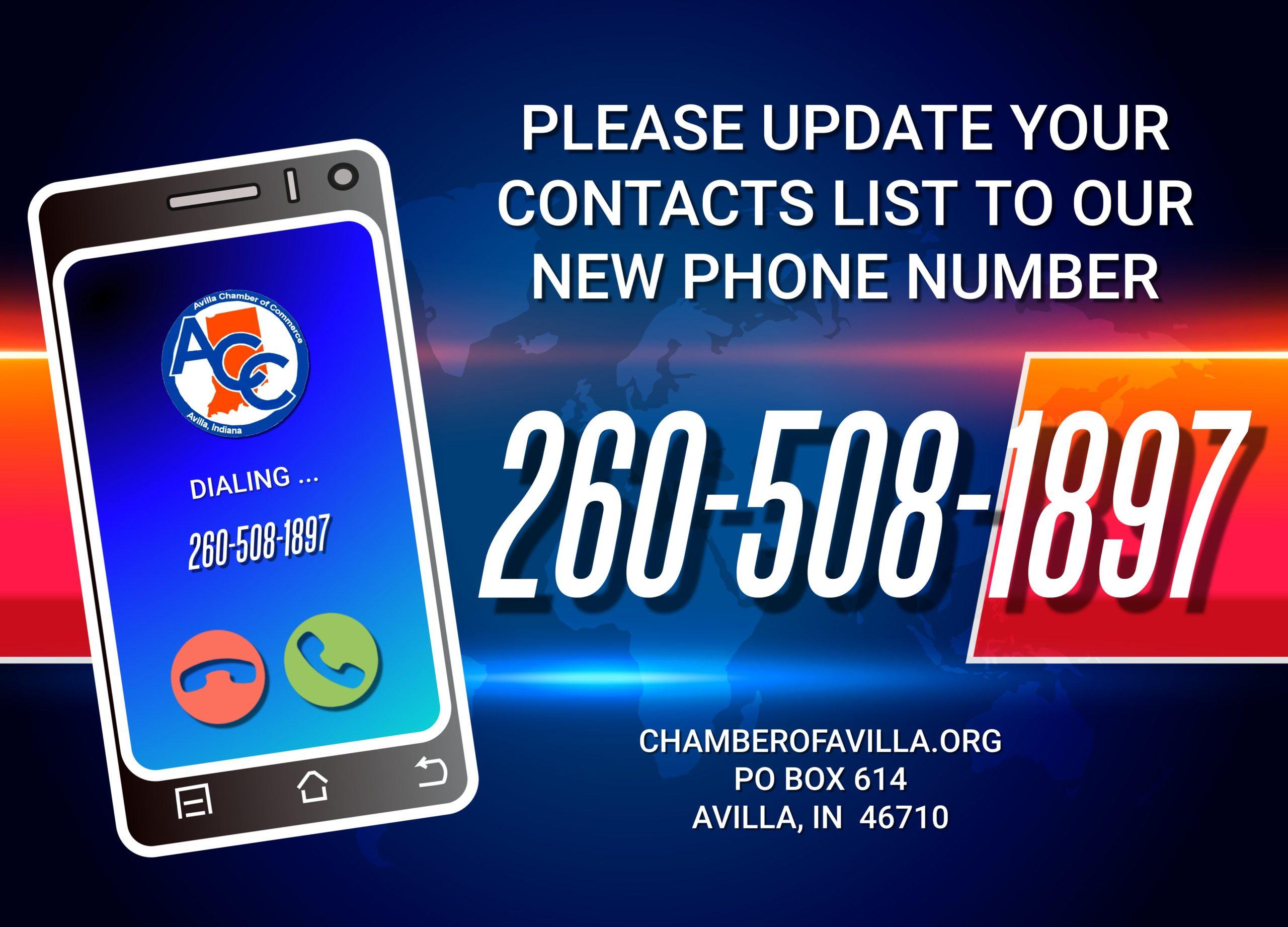 New Avilla Chamber Phone Number