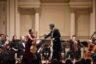Chamber Orchestra of New York - Director Salvatore Di Vittorio -Mexican classical guitarist Zaira Meneses in Rodrigo's Fantasia for a Gentleman