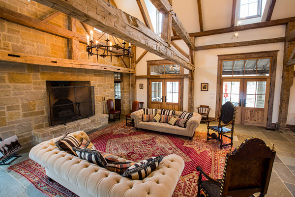 Family Room Design Fireplace