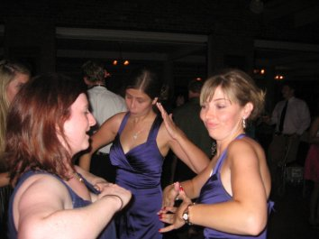 Tearing it up at Eve & Matt's wedding, September 2010