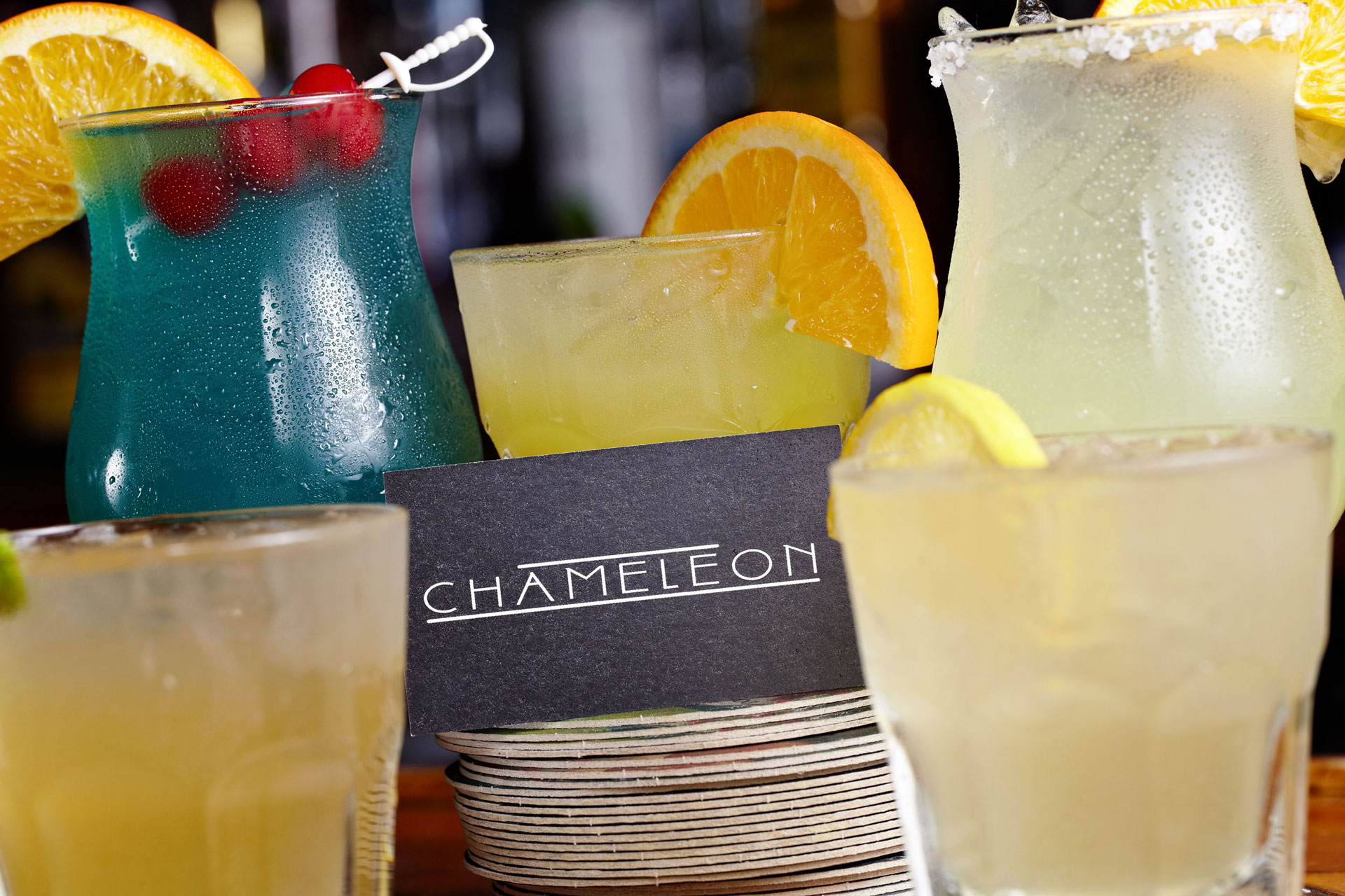 Fresh fruit cocktails and stiff drinks alike, we have a great drink selection at Chameleon in Northside Cincinnati.