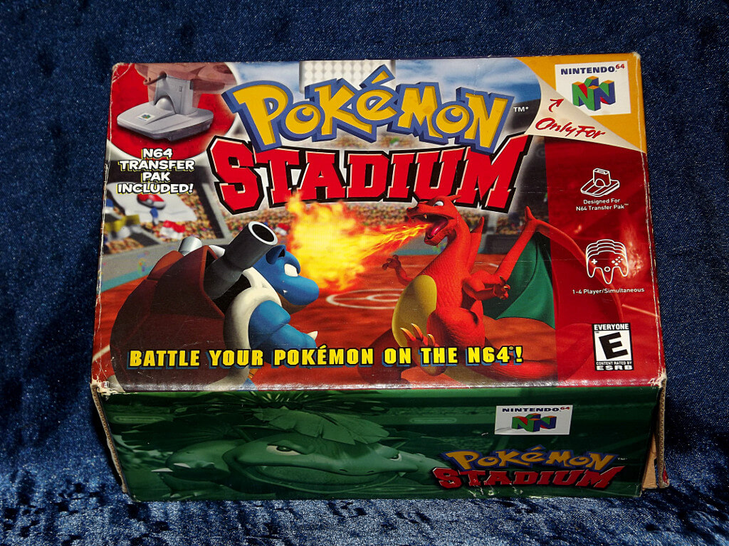 Chameleon s Den   Nintendo 64 Game  Pokemon Stadium with Box Pokemon Stadium Box   Back