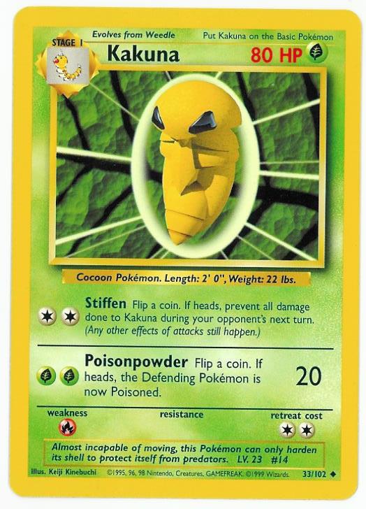Chameleons Den Pokemon TCG Card Weedle Stage 1
