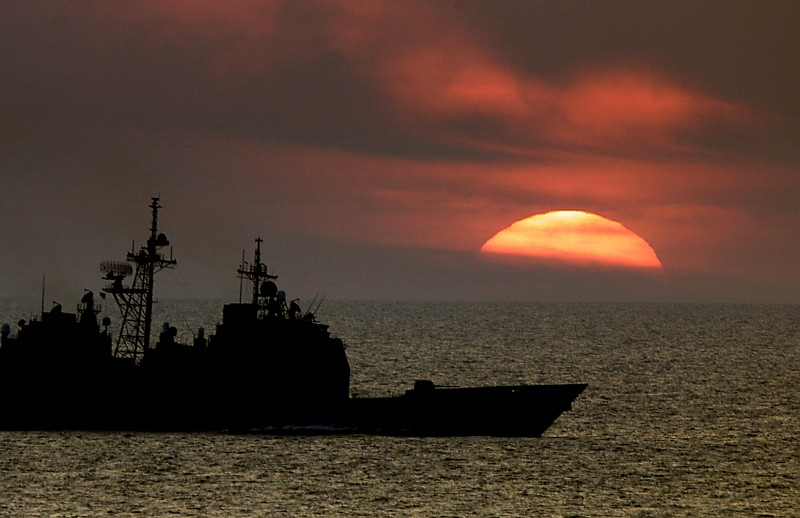 Image result for u.s. warship, sunset, photos