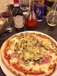 Pizza at La Tavola Calda, Paris - Champagne Travels