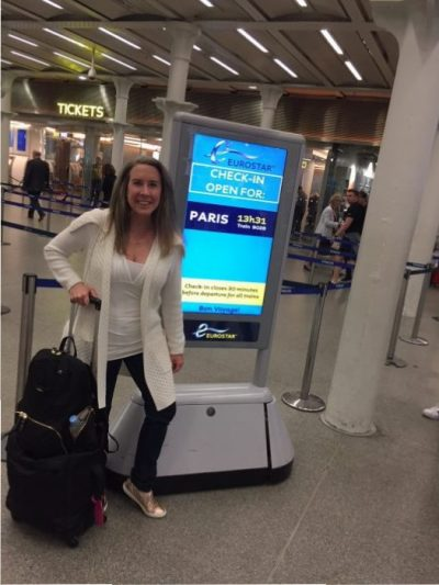 Blogger Eileen Callahan traveling light