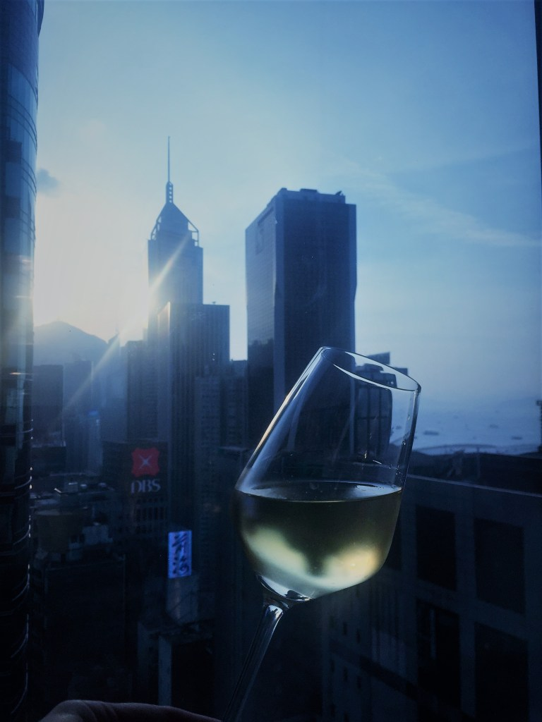 Eileen Callahan of Champagne Travels in Hong Kong China with Champagne Travels at the Mira Moon Hotel