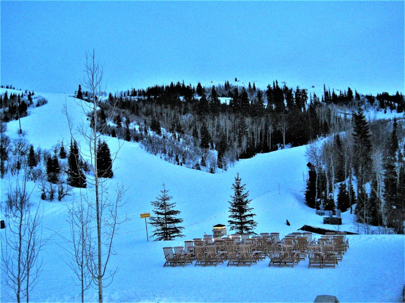 Eileen Callahan of Champagne Travels on vacation at the St. Regis Deer Valley Utah