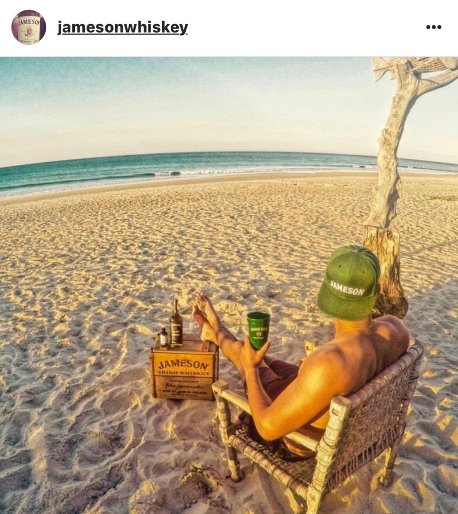 Eileen Callahan of Champagne Travels talks about Jameson Irish Whiskey on Instagram