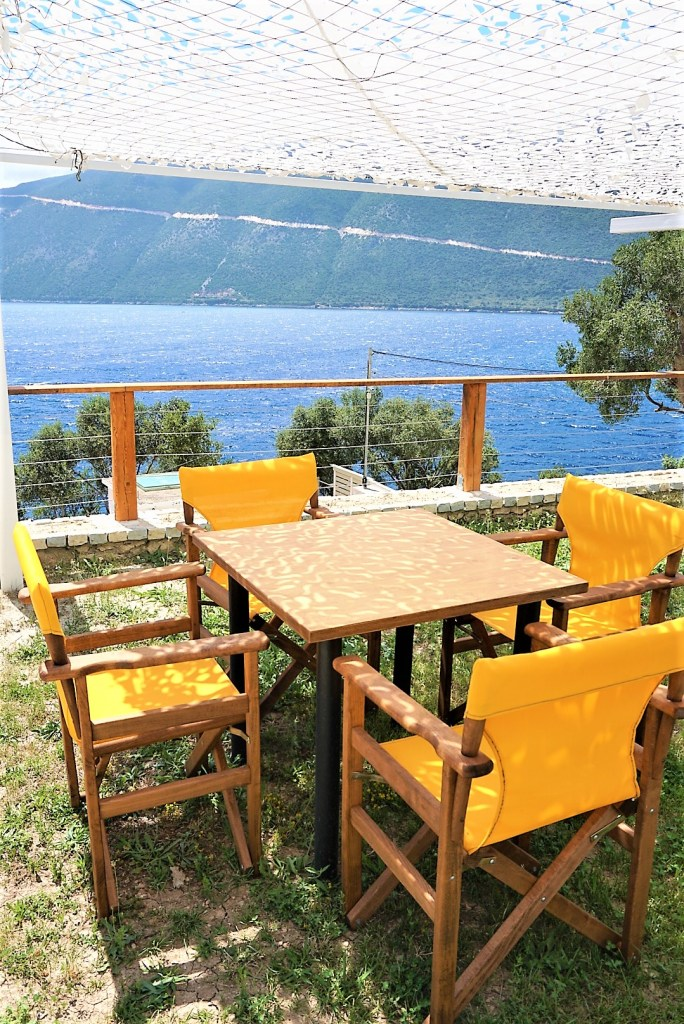 Eileen Callahan Luxury Travel Writer of Champagne Travels at Sappho Boutique Suites in Lefkada, Greece