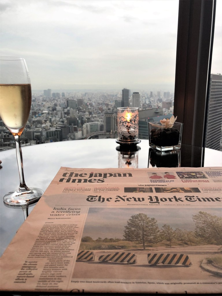 Eileen Callahan of Champagne Travels at The Horizon Club at the Shangri-La Tokyo Japan