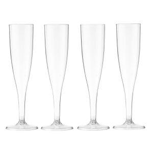HEMA Plastic Champagne Glazen - Transparant - 4 Stuks (transparant)