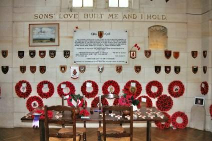 Longueval : Ulster Tower Memorial Room.