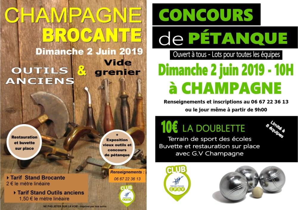 Infos Brocante + Pétanque