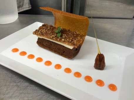 Deconstructed carrot cake