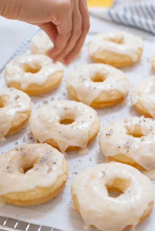 Lemon & Lavender Baked Doughnuts with Lavender Sugar