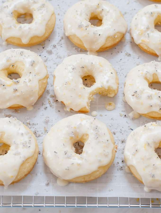 Lemon & Lavender Baked Doughnuts with Lavender Sugar
