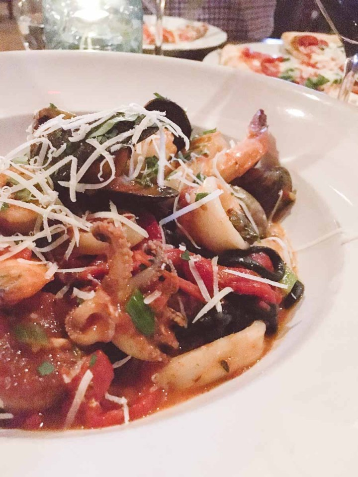 What a dietitian eats in a week - seafood pasta with parmesan