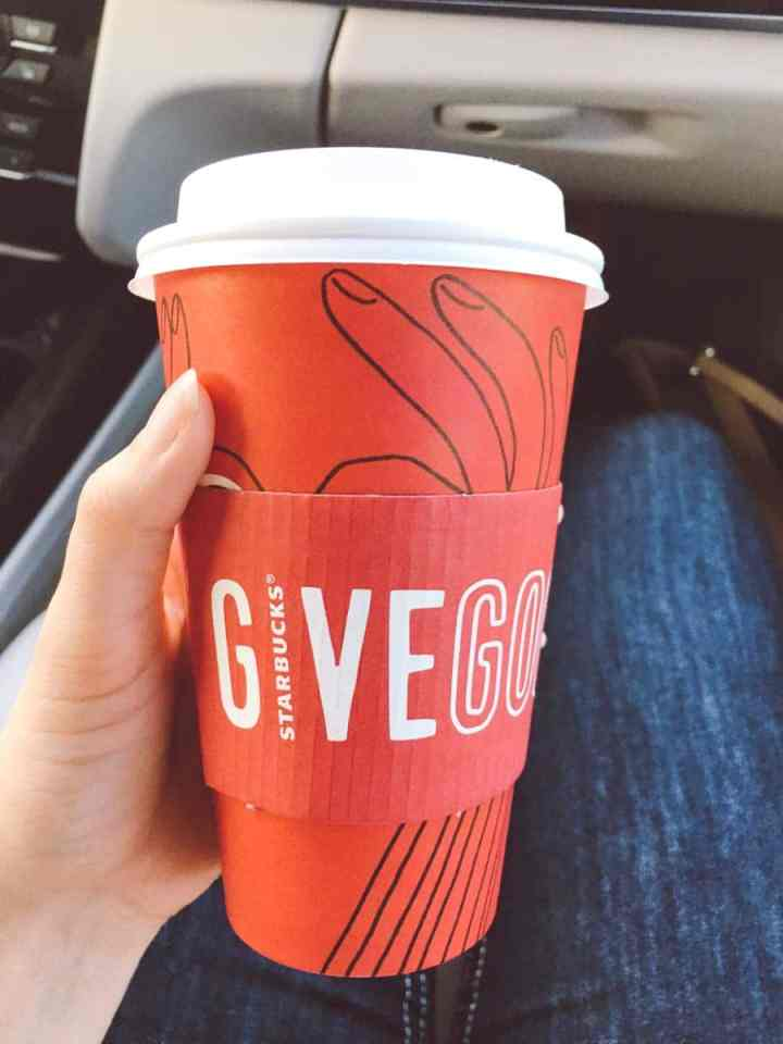 What a dietitian eats in a week - starbucks holiday cup