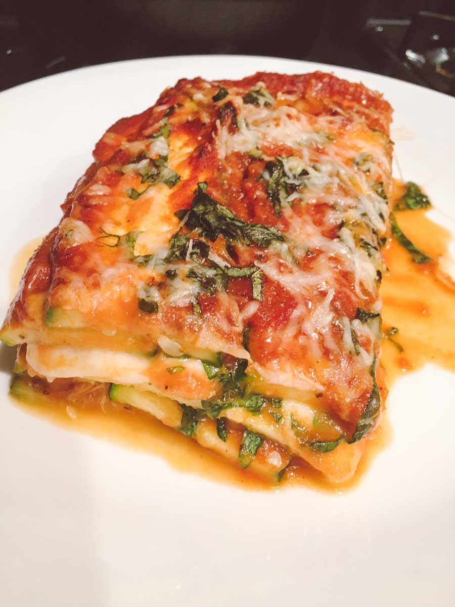 What a dietitian eats - zucchini lasagna with cheese