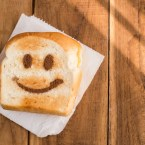 Smiely face toast