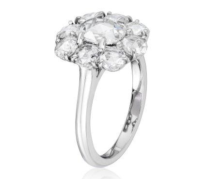 BAYCO - ROSE-CUT DIAMOND CLUSTER RING