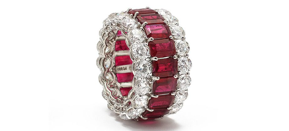 BAYCO - RUBY & DIAMOND ETERNITY RING