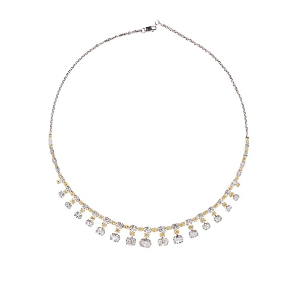 KAMYEN JEWELLERY - GRADUATING OVAL-CUT DIAMOND NECKLACE