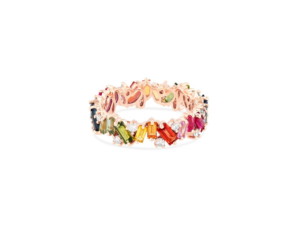 OPTION 1 SUZANNE KALAN - FRENZY ETERNITY BAND 18kt ROSE GOLD, 18kt YELLOW GOLD, 18kt WHITE GOLD