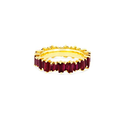 OPTION 2 SUZANNE KALAN - RUBY BAGUETTE ETERNITY BAND