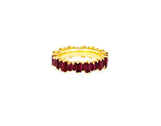 OPTION 3 SUZANNE KALAN - RUBY BAGUETTE ETERNITY BAND