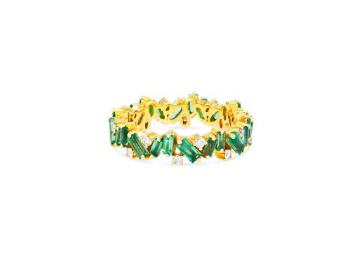 OPTION 2 SUZANNE KALAN - EMERALD FRENZY ETERNITY BAND 18kt ROSE GOLD, 18kt YELLOW GOLD, 18kt WHITE GOLD