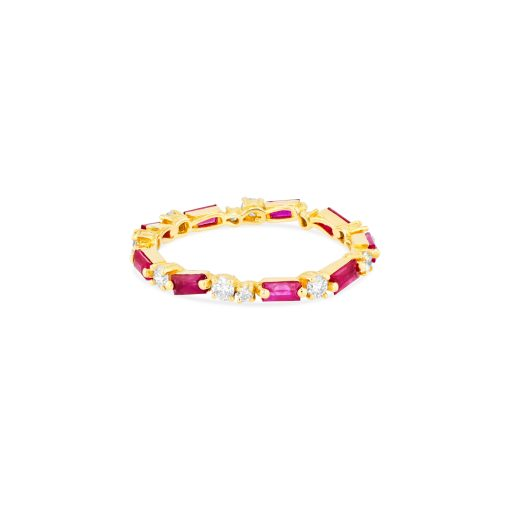 OPTION 2 SUZANNE KALAN THIN MIX ETERNITY BAND - RUBY