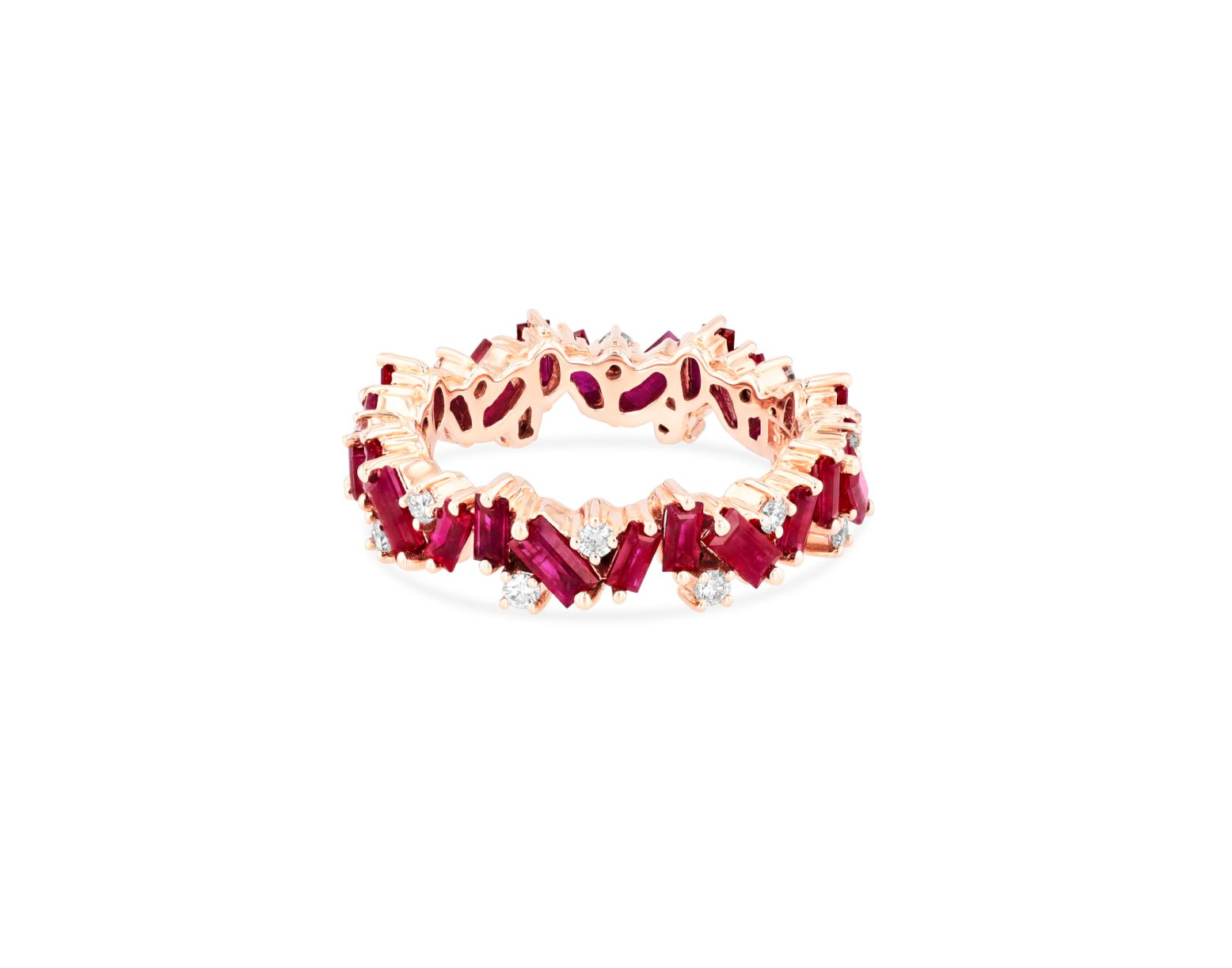 OPTION 4 SUZANNE KALAN - RUBY FRENZY ETERNITY BAND 18kt ROSE GOLD, 18kt YELLOW GOLD, 18kt WHITE GOLD